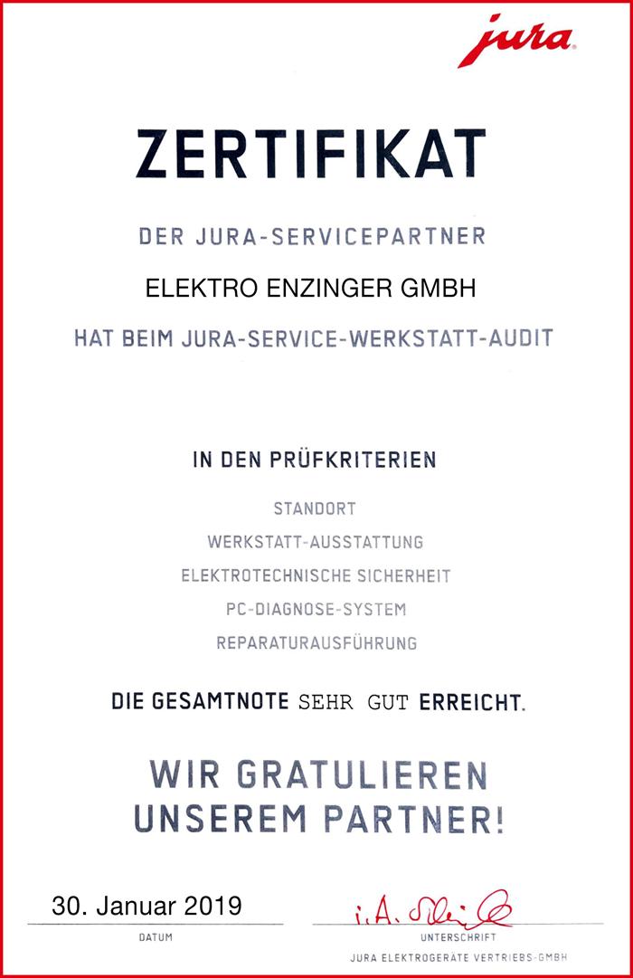 Jura-Zertifikat
