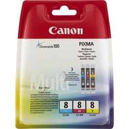 Canon CLI 8 3-farbig (Value Pack)